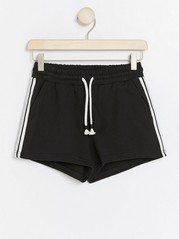 Shorts with Side Stripes Black