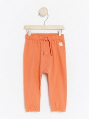 Trousers with drawstring Orange