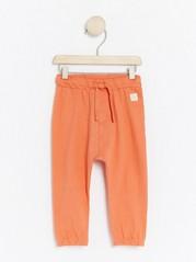 Kalhoty se stahovací šňůrkou Oranžová