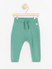 Trousers with drawstring Green