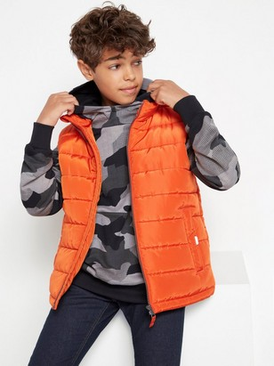 Orange padded vest Orange