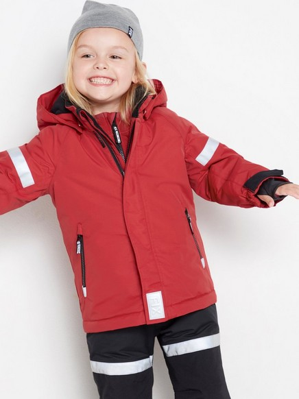 FIX vattert funksjonell jakke Rød