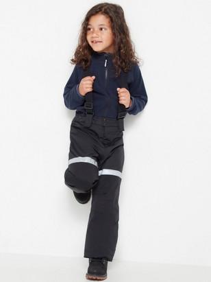 FIX Black ski trousers with braces Black