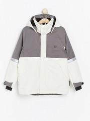 Padded ski jacket White