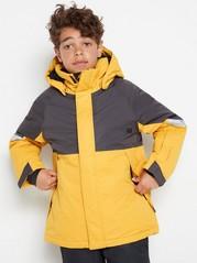 Zateplená lyžařská bunda Žlutá