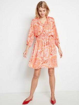 Oransje paisleymønstret kjole Oransje