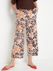 BELLA - Relaxed Cropped Trousers  Pink