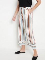 Volné zkrácené kalhoty BELLA Bílá