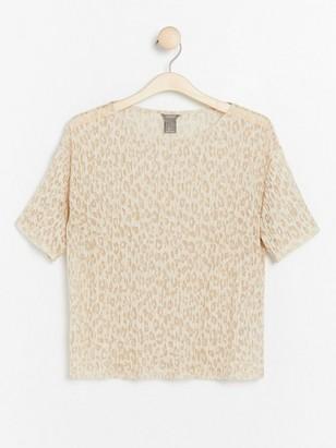 Mønstret, plissert topp Brun