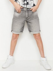 Regular Denim Jersey Shorts Black