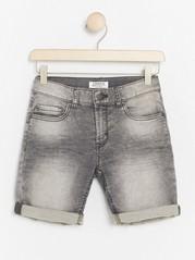 Regular Denim Jersey Shorts Black