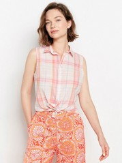 Checkered Pink Blouse  Pink
