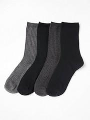 Sada 4párů ponožek Černá
