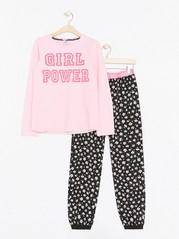 Girl Power -pyjama Vaaleanpunainen