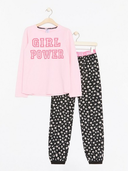 Girl Power-pyjamas Rosa