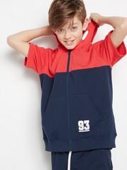 Short Sleeved Sweatshirt Blue