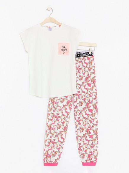 Pyjamas med enhjørninger Rosa