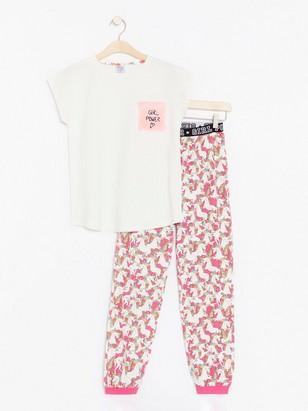 Pyjamas with Unicorns Pink