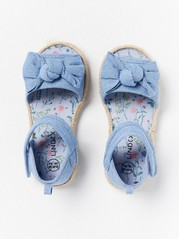 Sandals with Bows Blue