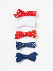 5-pack Hair Clips Red