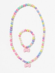 Necklace and Bracelet Pink