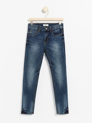 Slim fit jeans med superstretch Blå