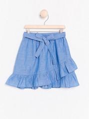 Blue Wrap Skirt Blue