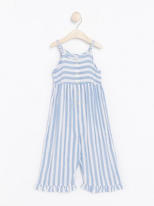 Patterned Jumpsuit White