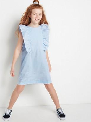 Kjole med volang Blå
