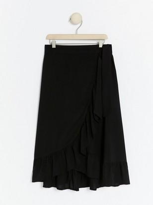 Black flounce skirt in viscose Black