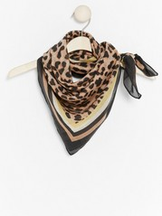 Scarf with Animal Print  Yellow