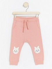 Trousers with Rabbits to Knees Pink