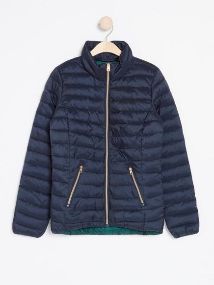 Lett vattert jakke Blå