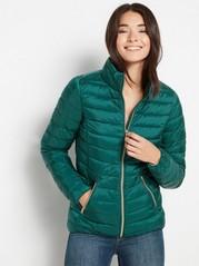 Lett vattert jakke Grønn