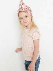 Top with Frill to Sleeves Pink