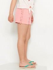 Jersey shorts with frills Pink