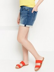 Regular Denim Jersey Shorts Blue