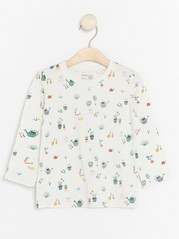 Top with Gardening Pattern White