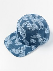 Cap with Tropic Pattern Blue