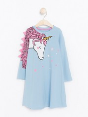 Night Dress with Unicorn Blue
