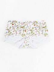 Klasické kalhotky snohavičkou Bílá