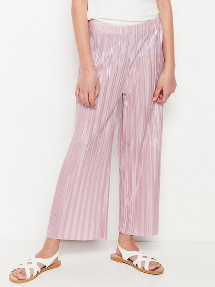 Rosa plissert bukse Rosa