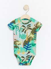 Bodysuit with Wild Animals Green