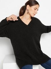 Volný svetr Černá