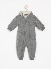 Grey overall in wool blend Grey