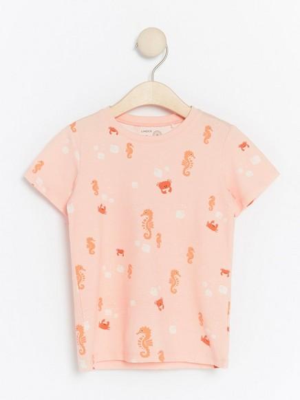 T-paita, jossa merellinen kuvio Koralli