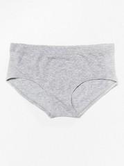 Bezešvé šedé kalhotky Šedivá
