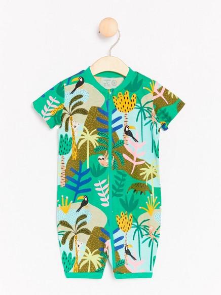 Pyjama, jossa viidakkokuvio Vihreä
