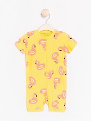 Pyjamas with Flamingo Pattern Yellow
