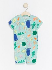Pyjamas with Sea Creatures Turquoise